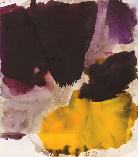 DIRK DE BRUYCKER, LARGE IMPOSITION asphalt, cobalt drier, gesso and oil on canvas