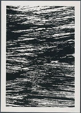 ELLSWORTH KELLY, THE SEINE: THE STATES OF THE RIVER 18/25 lithograph