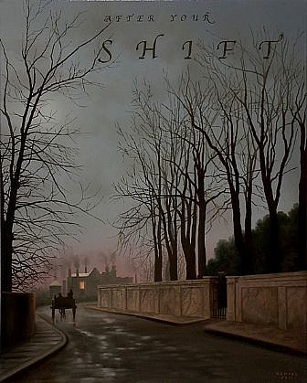 WES HEMPEL, AFTER YOUR SHIFT oil on canvas