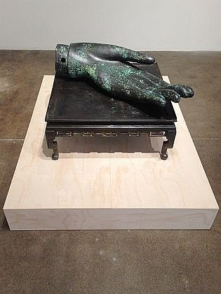 DAVID KIMBALL ANDERSON, TABLE cast bronze