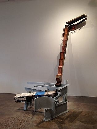 DAVID KIMBALL ANDERSON, TRUNGPA'S LADDER painted steel and found wood