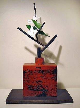 DAVID KIMBALL ANDERSON, EARLY SPRING painted steel, bronze