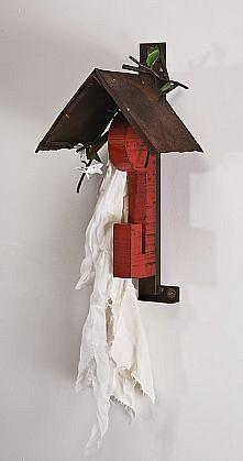 DAVID KIMBALL ANDERSON, LITTLE VILLAGE, APPLE steel, wood, fabric, paint