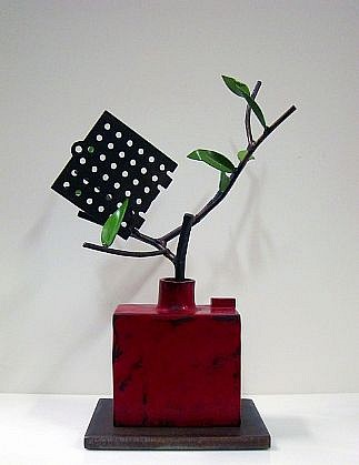 DAVID KIMBALL ANDERSON, GRID AND MARSH WILLOW painted steel and bronze