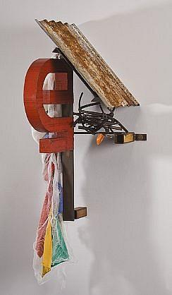 DAVID KIMBALL ANDERSON, LITTLE VILLAGE, NEST steel, wood, fabric, paint