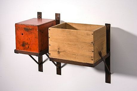 DAVID KIMBALL ANDERSON, OFFERING BOX, TSONGSA DZONG steel, paint, metal composition leaf