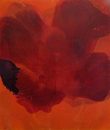 DIRK DE BRUYCKER, A RIVER IS... asphalt, cobalt drier, gesso and oil on canvas