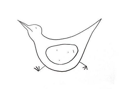 TOM NUSSBAUM, BIRD IV graphite