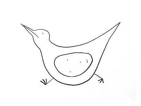TOM NUSSBAUM, BIRD IV graphite