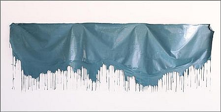 JOHN MCENROE, BLUE GREEN PAINTING Latex Paint