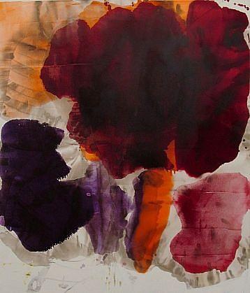 DIRK DE BRUYCKER, BODY OF FIVE asphalt, cobalt drier, gesso and oil on canvas