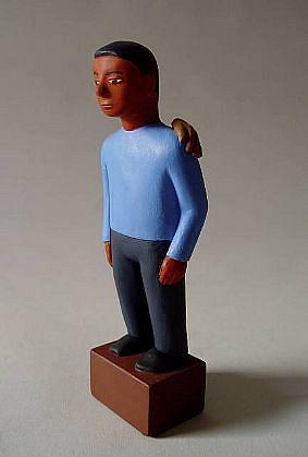 TOM NUSSBAUM, Boy / Hand acrylic on resin