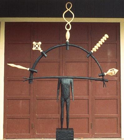 JOHN BUCK, SEVEN SISTERS acrylic/ wood sculpture