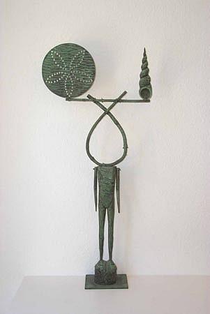JOHN BUCK, WICHITA BEACH acrylic/ wood sculpture