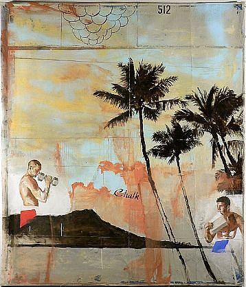 JACK BALAS, CHALK oil on canvas