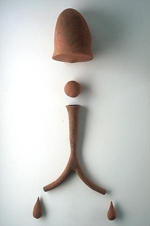 SCOTT CHAMBERLIN, flussh ceramic sculpture