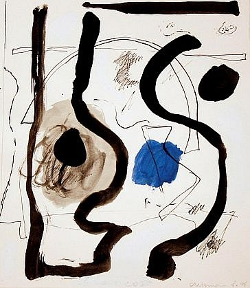 DALE CHISMAN ESTATE, UNTITLED acrylic, ink, graphite on watercolor paper