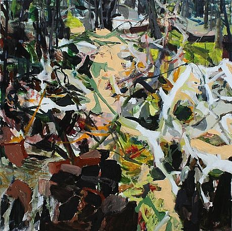 ALLISON GILDERSLEEVE, CLEARING oil and alkyd on canvas