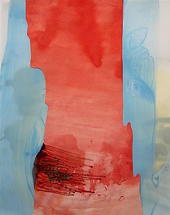 KATY STONE, COCONINO acrylic on Duralar and paper collage