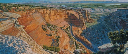 JIM COLBERT ESTATE, Colorado Monument oil on canvas