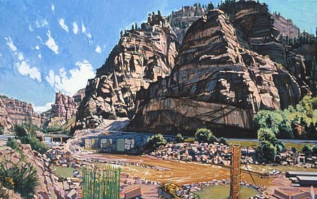 JIM COLBERT ESTATE, Glenwood Canyon(Pictures Of You) oil on canvas
