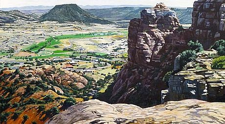 JIM COLBERT ESTATE, SEDONA, ARIZONA oil on canvas