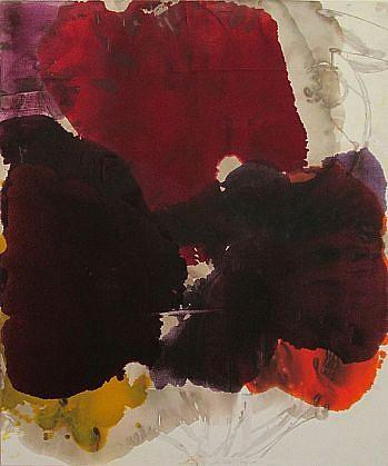 DIRK DE BRUYCKER, CONFLUENCE OF THREE asphalt, cobalt drier, gesso and oil on canvas