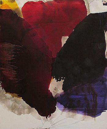 DIRK DE BRUYCKER, CONFLUENCE OF TWO asphalt, cobalt drier, gesso and oil on canvas