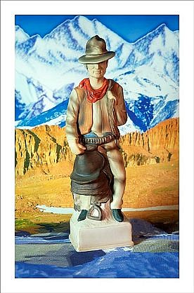 "GARY EMRICH, COWBOY WITH DEEP ROCK WATER ""Firewater"" Ed, 5 pigment print"