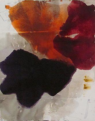 DIRK DE BRUYCKER, ECLIPSED I asphalt, cobalt drier, gesso and oil on canvas