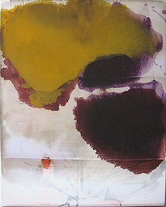 DIRK DE BRUYCKER, FLUX I asphalt, cobalt drier, gesso and oil on canvas
