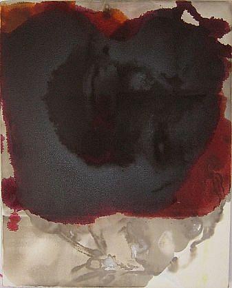 DIRK DE BRUYCKER, POOL II asphalt, cobalt drier, gesso and oil on canvas