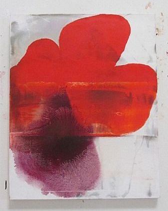 DIRK DE BRUYCKER, SEA STAR asphalt, cobalt drier, gesso and oil on canvas
