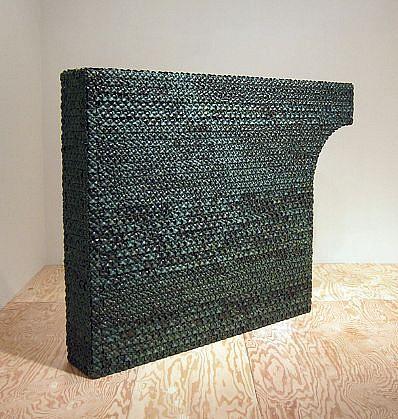 KIM DICKEY, HALF ARCH aluminum, glazed terracotta, silicone, rubber, grommets