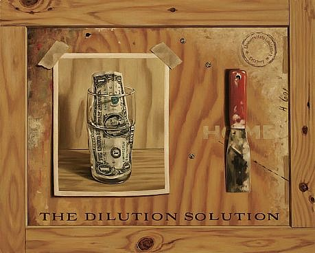 JERRY KUNKEL, DILUTION SOLUTION oil on canvas