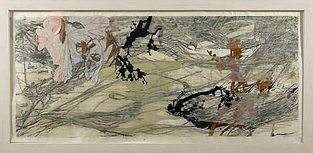 JUDY PFAFF, YEAR OF THE DOG #5 12/20 woodblock digital and hand-printing