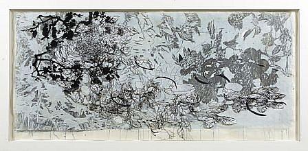 JUDY PFAFF, YEAR OF THE DOG #3 19/20 woodblock, digital and hand-printing