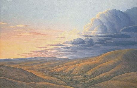 BRUCE LOWNEY, DOWN IN THE VALLEY oil on canvas