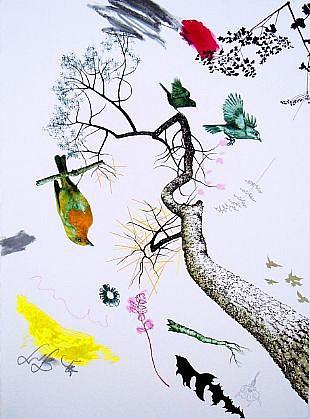 BENNY DRÖSCHER, ITS JUST A DREAM (TO BE A BIRD) 125/140 lithograph