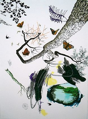BENNY DRÖSCHER, ITS JUST A DREAM (TO BE A MOTH) 125/140 lithograph