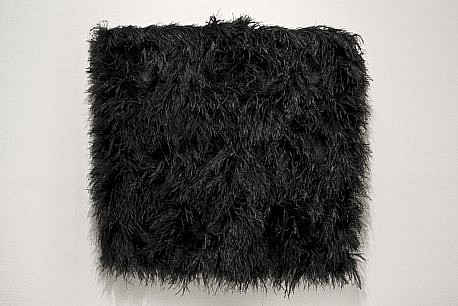 MARY EHRIN, CELEBRITY SKIN ostrich feathers, suede