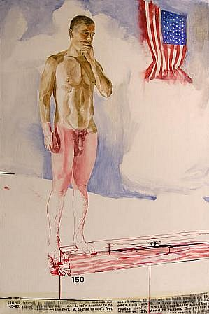 JACK BALAS, STAND oil and ink on canvas