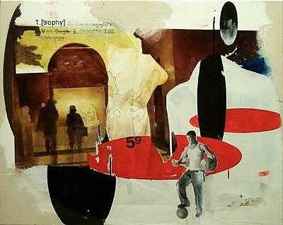 JACK BALAS, Trophey oil & enamel on canvas