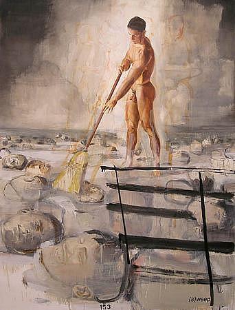 JACK BALAS, SWEEP oil on canvas