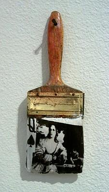 GARY EMRICH, As In Titian, The Profane photo emulsion transfer / paintbrush