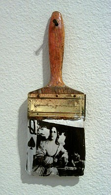GARY EMRICH, As In Titian, The Profane photo emulsion transfer / paintbrush