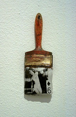 GARY EMRICH, AS IN TITIAN, THE SACRED photo emulsion transfer / paintbrush