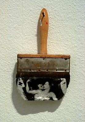 GARY EMRICH, THE KISS photo emulsion transfer / paintbrush