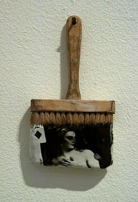 GARY EMRICH, THE LOOK photo emulsion transfer / paintbrush