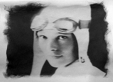 GARY EMRICH, AMELIA EARHART photo emulsion transfer/ paper